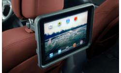Support iPad fixé sur l'appui-tête avant