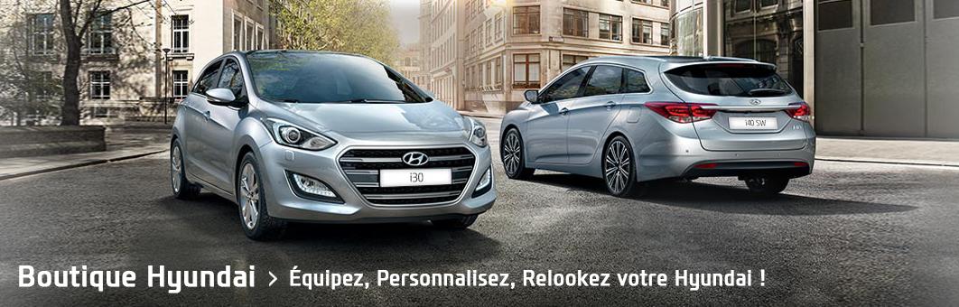 Découvrez une large sélection d'accessoires Hyundai d'origine !